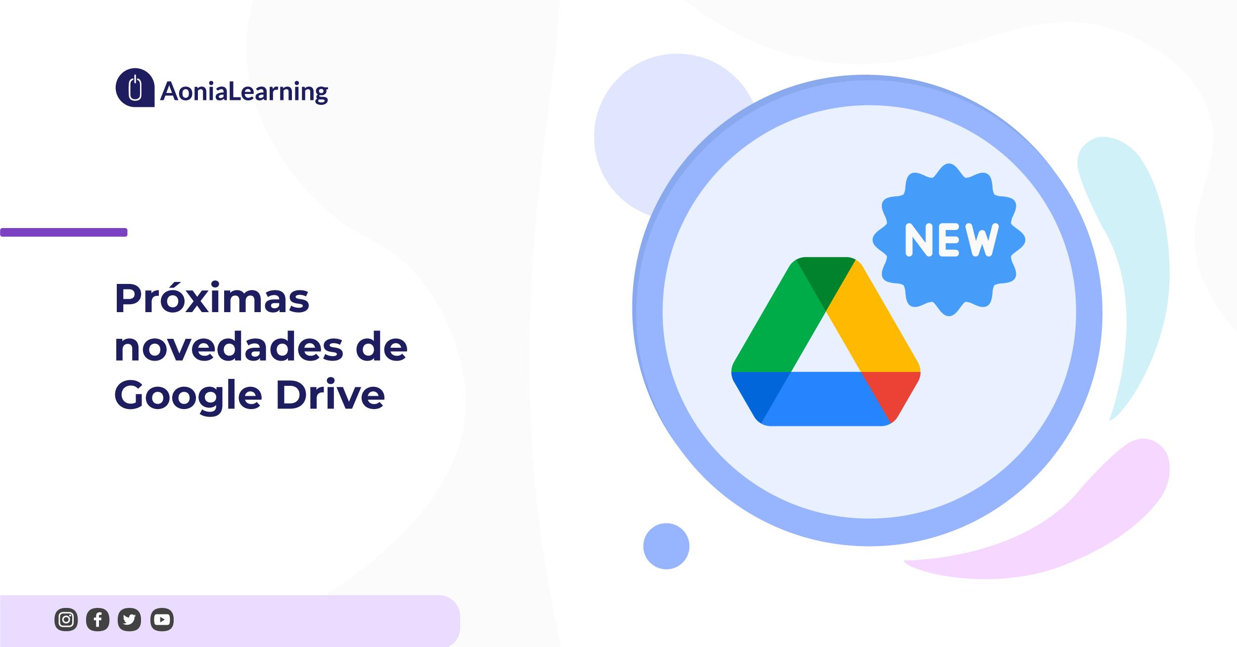 Próximas novedades de Google Drive
